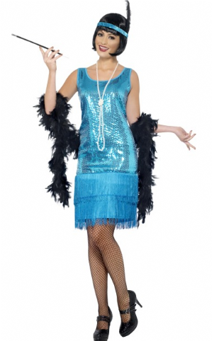 Flirty  Flapper Plus Size 1920's Costume